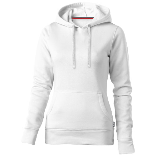 Alley hooded ladies sweater in white-solid