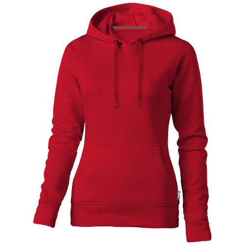 Alley hooded ladies sweater in red