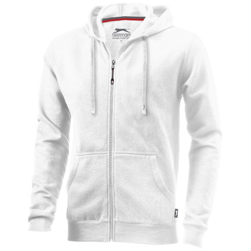 Open full zip hooded sweater