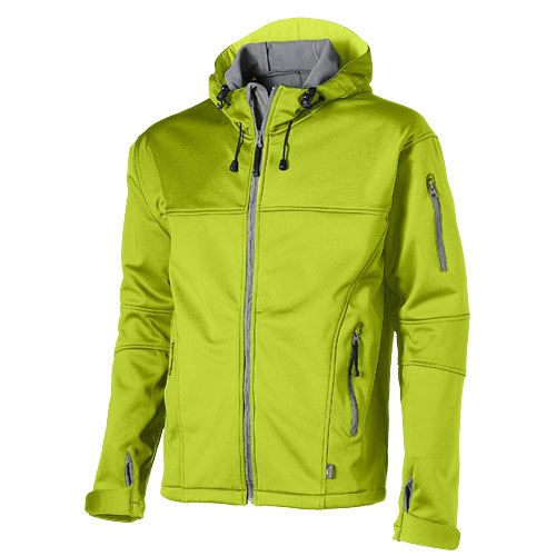 Match softshell jacket in mid-green