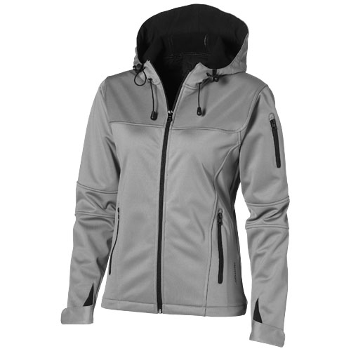 Match ladies softshell jacket in grey