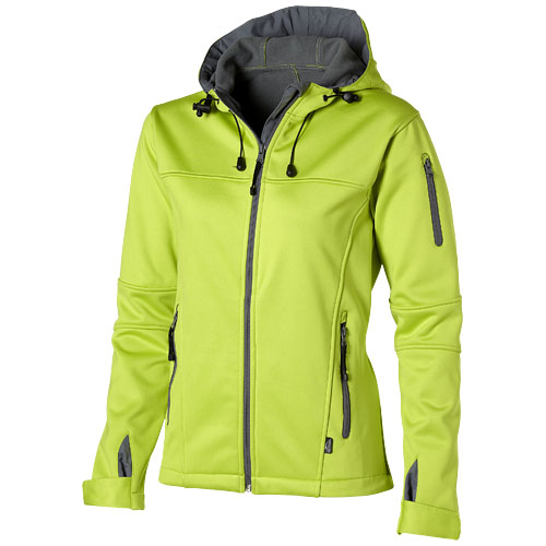 Match ladies softshell jacket in mid-green