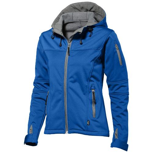 Match ladies softshell jacket in sky-blue