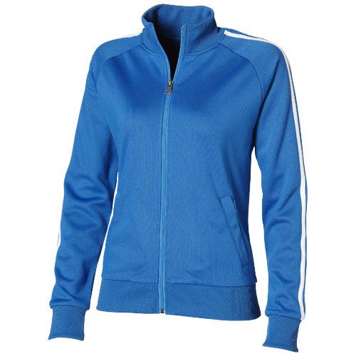 Court Full Zip Ladies Sweater in sky-blue