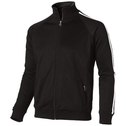 Court  full zip sweater in black-solid