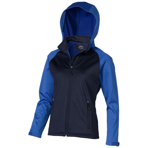 Challenger Softshell Ladies Jacket in navy-and-sky-blue