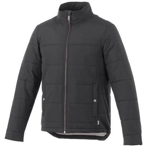 Bouncer insulated jacket in grey-smoke