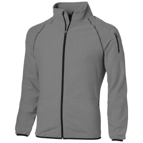 Drop shot full zip micro fleece jacket in grey