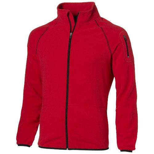Drop shot full zip micro fleece jacket in red