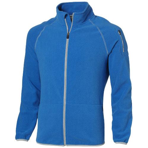 Drop shot full zip micro fleece jacket in sky-blue