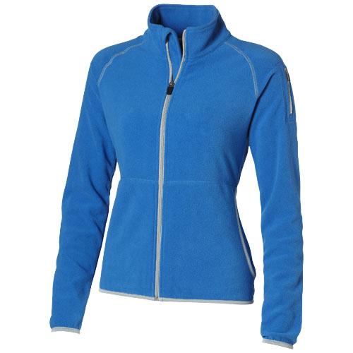 Drop shot full zip micro fleece ladies jacket in sky-blue