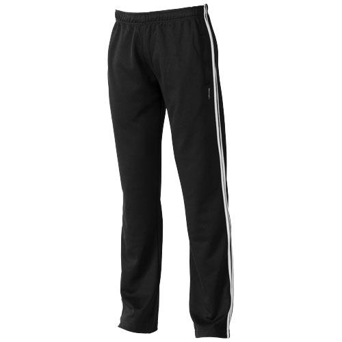 Court ladies track pants in black-solid