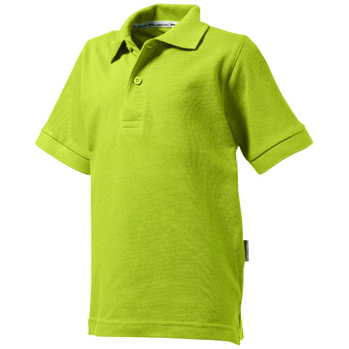 Forehand short sleeve kids polo in apple-green