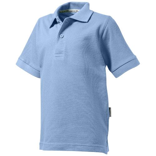 Forehand short sleeve kids polo in light-blue