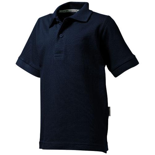 Forehand short sleeve kids polo in navy