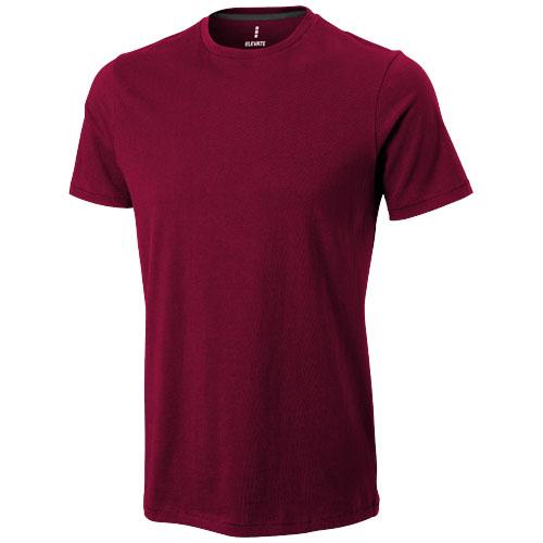 Nanaimo short sleeve men's t-shirt in burgundy