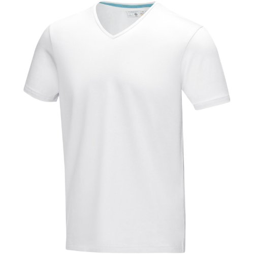 Kawartha short sleeve men's organic t-shirt in white-solid