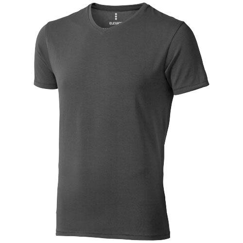 Kawartha short sleeve men's organic t-shirt in anthracite