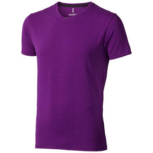 Kawartha short sleeve men's organic t-shirt in plum