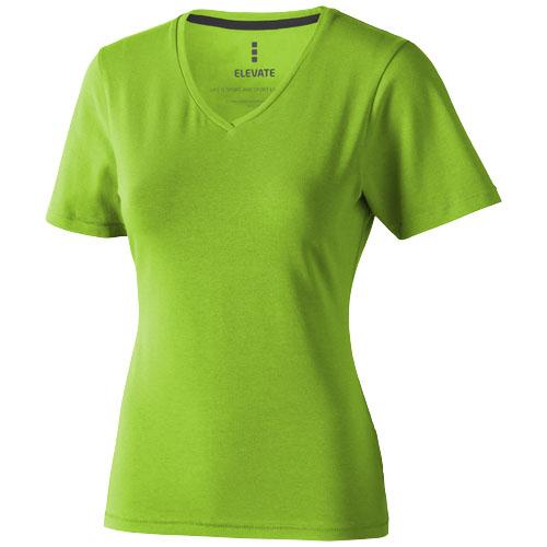Kawartha short sleeve women's organic t-shirt in apple-green