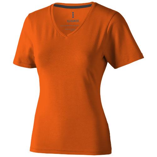 Kawartha short sleeve women's organic t-shirt in orange