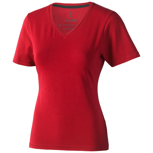 Kawartha short sleeve women's organic t-shirt in red