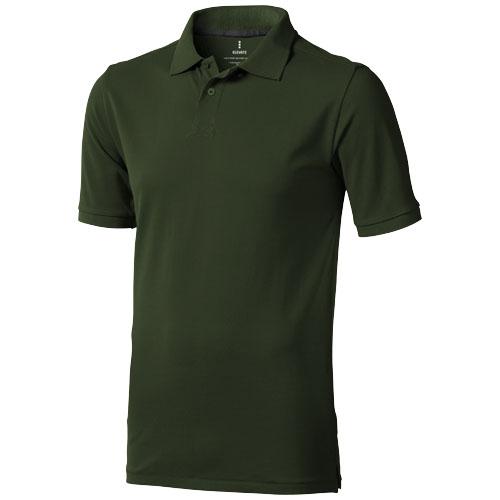 Calgary short sleeve men's polo in army-green