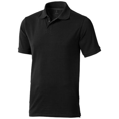 Calgary short sleeve men's polo in black-solid
