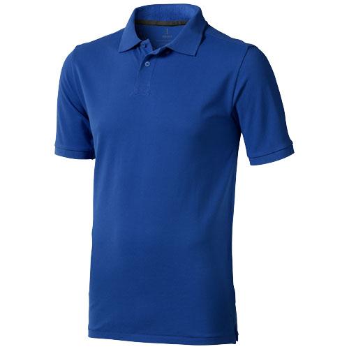 Calgary short sleeve men's polo in blue