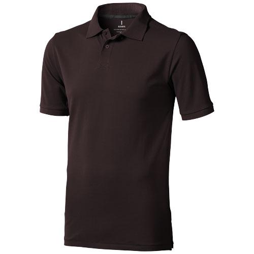 Calgary short sleeve men's polo in chocolate-brown
