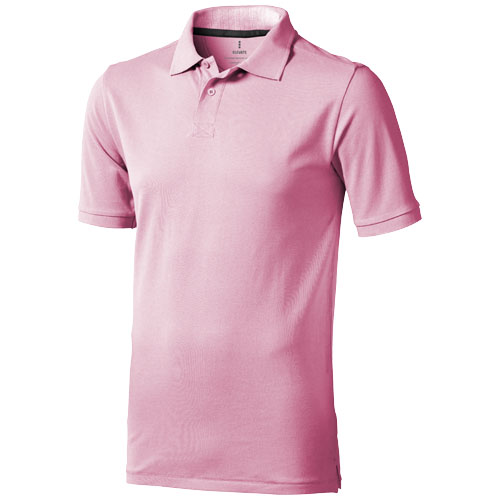 Calgary short sleeve men's polo in light-pink