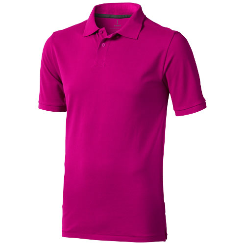 Calgary short sleeve men's polo in pink
