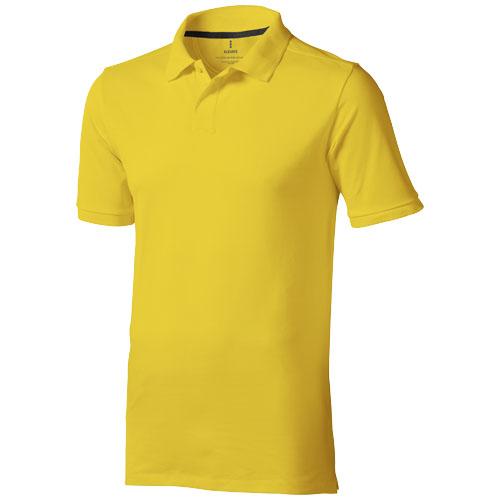 Calgary short sleeve men's polo in yellow
