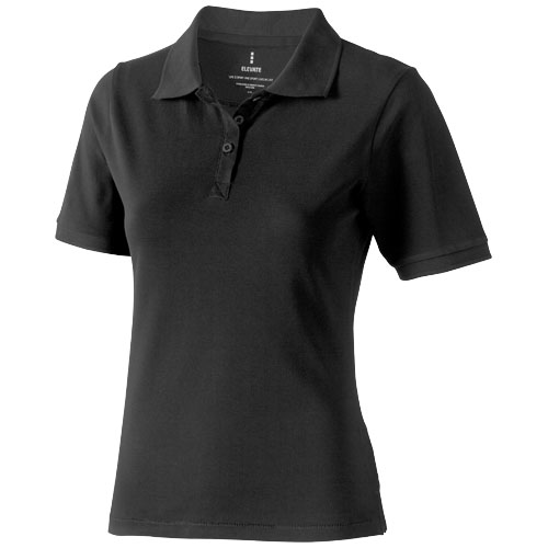 Calgary short sleeve women's polo in anthracite