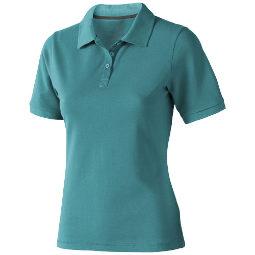 Calgary short sleeve women's polo in aqua
