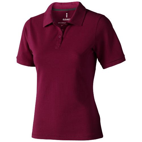 Calgary short sleeve women's polo in burgundy