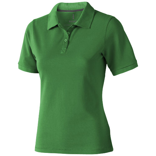 Calgary short sleeve women's polo in fern-green