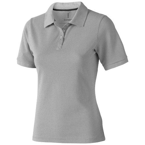 Calgary short sleeve women's polo in grey-melange