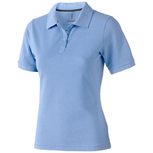 Calgary short sleeve women's polo in light-blue