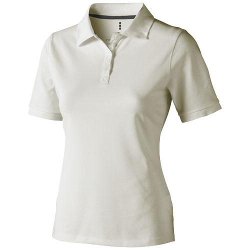 Calgary short sleeve women's polo in light-grey