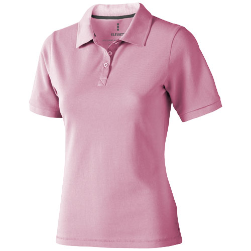 Calgary short sleeve women's polo in light-pink