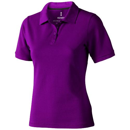 Calgary short sleeve women's polo in plum