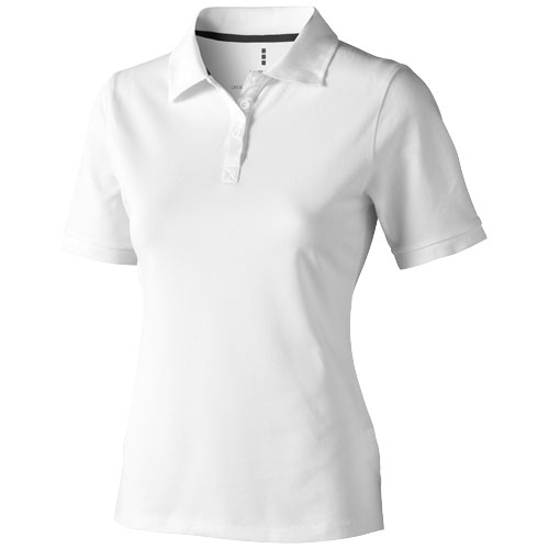 Calgary short sleeve women's polo in white-solid