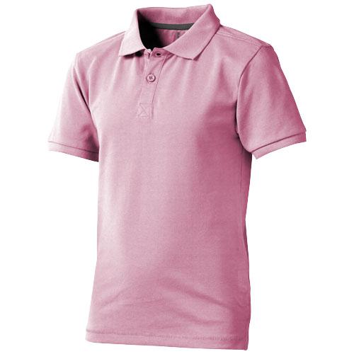 Calgary short sleeve kids polo in light-pink
