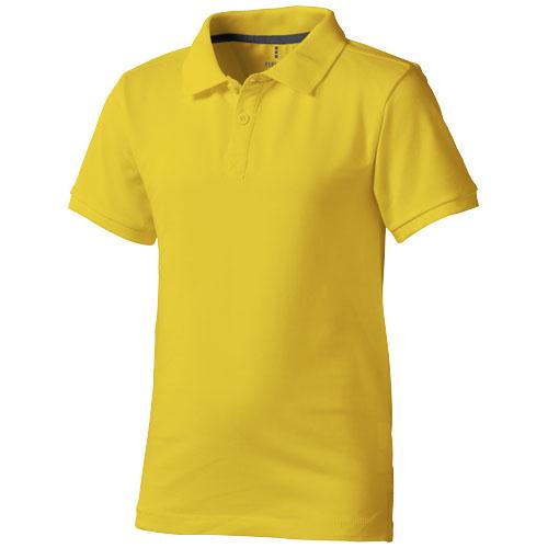 Calgary short sleeve kids polo in yellow