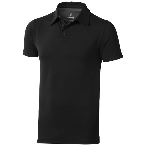Markham short sleeve men's stretch polo in black-solid