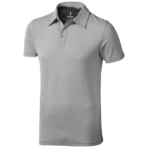Markham short sleeve men's stretch polo in grey-melange