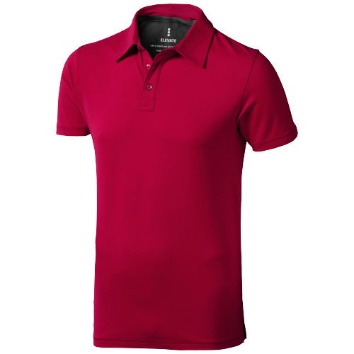 Markham short sleeve men's stretch polo in red