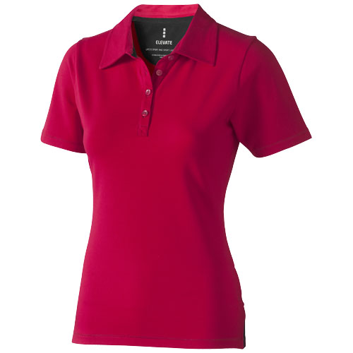 Markham short sleeve women's stretch polo in red