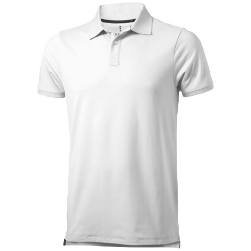 Yukon short sleeve Polo in white-solid